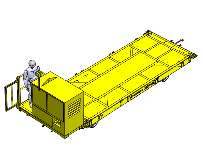 Selfproppeled railtrailer