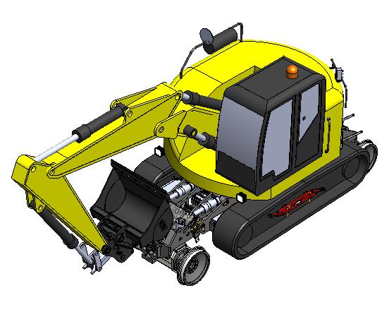 Tracked Hi-rail excavator