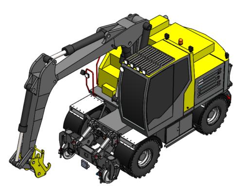Wheeled Hi-rail excavator