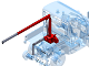 Lifting crane 0-2,5mtr 500-250kg (demountable)